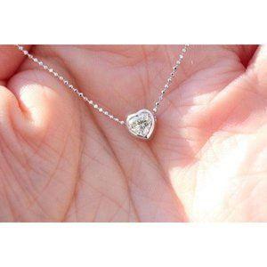 Jewelry - 1.00 Carat Heart Cut Diamond Necklace Pendant Gold
